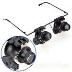 عینک ذره بینی تعمیرات با لامپ ال ای دی